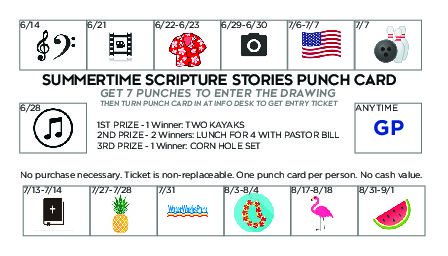 Summertime Punchcard Events
