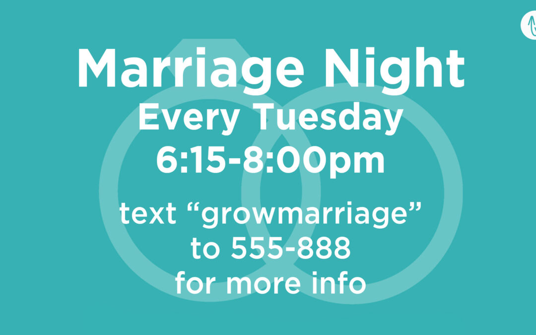 New Groups at Marriage Night