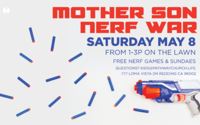 Mother and Son Nerf Wars